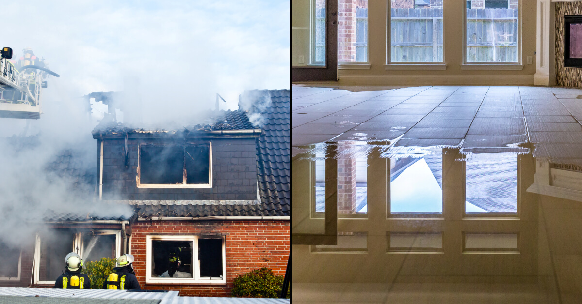 Learn More about our Fire & Water Restoration Services (Commercial & Residential)